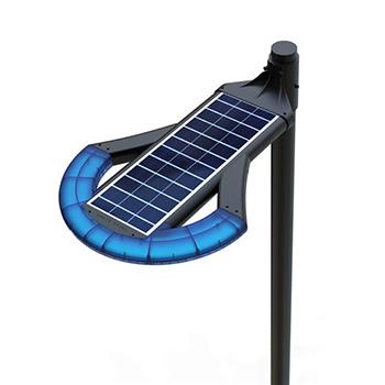 pouličná led solárna lampa